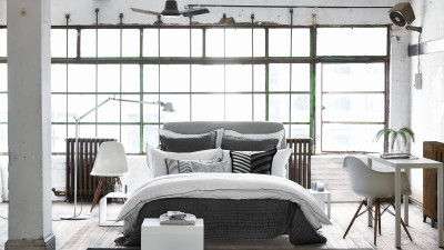 Astor Charcoal & Dove Bedding Set