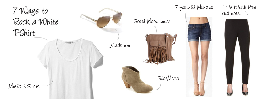 7 Ways To Rock a White Tee